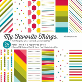 My Favorite Things – Paper Pad 15 x 15 cm - 24 vellen - Party Time