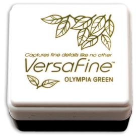 Tsukineko VersaFine inktpad 3 x 3 cm - watervaste inkt - Olympia green