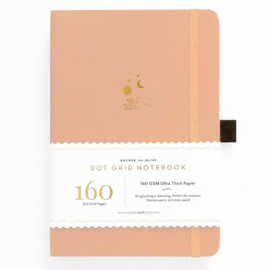 Archer & Olive bulletjournal/Notitieboek A5 - 160 pagina's - Dotted - Solar