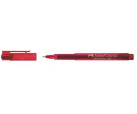 Fineliner Faber-Castell Broadpen 1554 0.8mm - rood