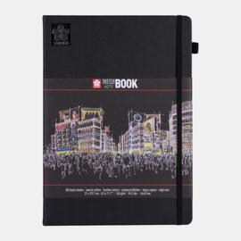 Sakura Brush / Schetsboek 21 x 30 cm  - 80 vellen - Zwart papier