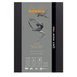 Rhodia Touch Maya Pad Grey A5 - 50 vellen - 120 grams grijs papier
