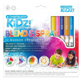 Chameleon Kidz Blend & Spray 10 Color Creativity Kit - set van 24