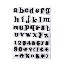 Paperfuel Clear stamp alphabet get them stripes - set van 49