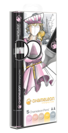 Chameleon Alcohol based Pens - Pastel Color Tones - set van 5