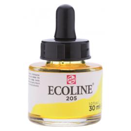 Talens Ecoline Vloeibare waterverf 30 ml - 205 citroengeel