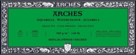 Arches Aquarelpapier 10 x 25 cm - cold pressed - 300 grams - 20 vellen