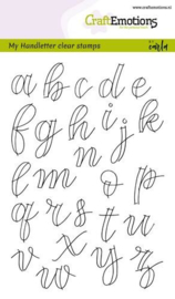 CraftEmotions clearstamps A6 - handletter - alfabet kleine letters - set van 26