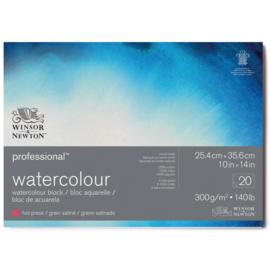 Winsor & Newton Aquarelpapier blok 25,4 x 35,6 cm - hot pressed - 300 grams - 20 vellen