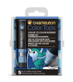 Chameleon Alcohol based Color Tops - Blue Tones - set van 5