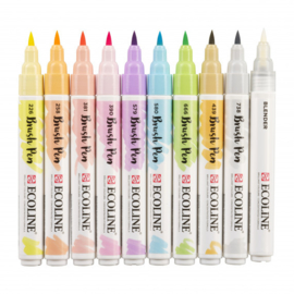 Talens Ecoline Brush Pen - set van 10 - Pastel