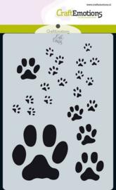 CraftEmotions Mask stencil Odey & Friends - poot afdrukken - A6