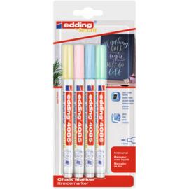 Edding 4085 Raam/krijtstift - rond 1-2 mm - set van 4 - Pastel