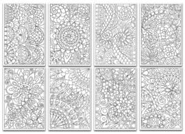 Chameleon Color Cards - Floral Patterns 10 x 15 cm - set van 16