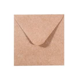 Florence - Enveloppen 9,5 x 9,5 cm kraft - 120 grams - set van 5