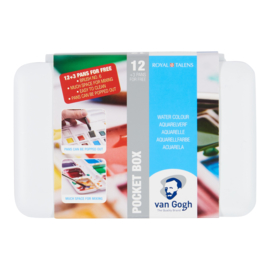 Van Gogh aquarelverf - Pocketbox 12 napjes + 3extra napjes