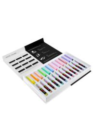 Karin Pigment DecoBrush Acrylmarkers  - set van 12 - Pastel Colors