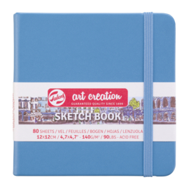 Talens art creation Brush / Schetsboek 12 x 12 cm  - 80 vellen - Lake Blue