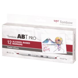 Tombow ABT PRO Alcohol based markers - Pastel colours - set van 12