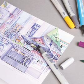 Clairefontaine Comic Book alcohol marker papier - 32 vellen - 17,6 x 25 cm
