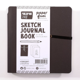 Paperfuel Journal notebook 16 x 16 cm - 48 pagina's - Zwart - Wit papier