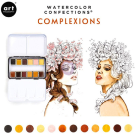 Prima Marketing Confections Aquarelverf Complexion - set van 12 kleuren