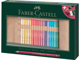 Kleurpotlood Faber Castell Polychromos 3,8mm kerndikte - set van 34 in Roletui