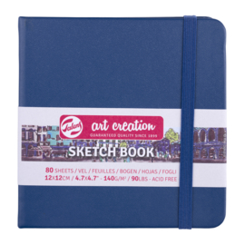 Talens art creation Brush / Schetsboek 12 x 12 cm - 80 vellen - Marine Blauw