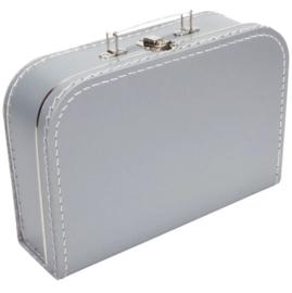 Opbergkoffertje zilver 30 x 21 x 9 cm