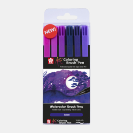 Sakura Koi coloring brush pen Galaxy - set van 6