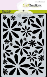 PRE-ORDER: CraftEmotions Mask stencil Bugs & flowers - bloemen - A6