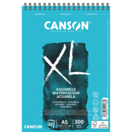 Canson Aquarelpapier spiraal blok - cold pressed - 300 grams - 20 vellen - A5