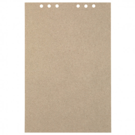 MyArtBook papier A4 - 20 vellen - 110 grams - Recycling Kraft Fluting Grey