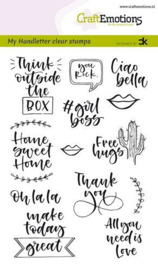 CraftEmotions clearstamps A6 - Handletter - Quotes 2 (Eng) - Carla Kamphuis