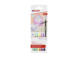 Edding 1200 viltstiften (colourpen) 1,0 mm - Pastelkleuren- set van 6