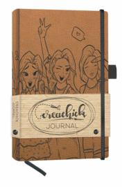 Creachick Journal A5 - 224 pagina's crème wit - Dotted - Bruin