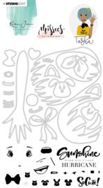 PRE-ORDER: Studio Light Clear Stamp & Die Cut A6 Karin Joan - Tasha Missees  Collection nr.04