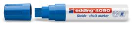 Edding 4090 Raam/krijtstift XXL - Beitelvormige punt 4-15 mm - Blauw