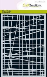 CraftEmotions Mask stencil - Lijnen ruit onregelmatig A5
