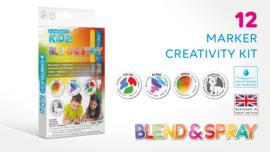 Chameleon Kidz Blend & Spray 12 Color Creativity Kit - set van 19
