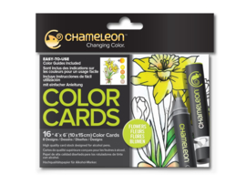 Chameleon Color Cards - Flowers 10 x 15 cm - set van 16