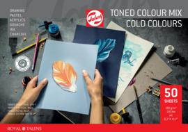 Talens toned colour mix cold colours A4 - 50 vellen - 180 grams