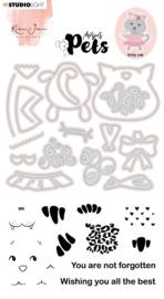 Studio Light Clear Stamp & Die Cut Karin Joan - Missees pets kitty cat nr.03