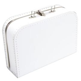 Opbergkoffertje wit 30 x 21 x 9 cm