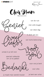 Studio Light Clear Stamp - Basics By Karin Joan - Basiswensen (Leverbaar week 12)