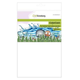 CraftEmotions alcohol marker papier A4 - 12 vellen - 250 grams Wit