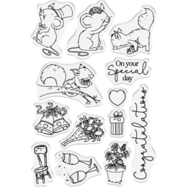 Crafter's Companion Lee Holland Clearstamp & Die - On Your Special Day - set van 24