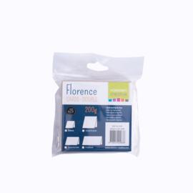 Florence - dubbele kaarten 9 x 9 cm Kraft - set  van 25
