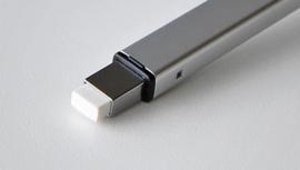 Tombow Mono Zero Metal Gumpen - extra fijn 2,5 x 5,0 mm - Metal zilver