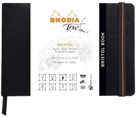 Rhodia Touch Bristol papier A5 Landscape - 64 pagina's - 205 grams Wit